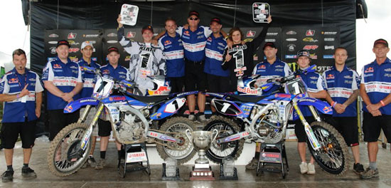 Team Yamaha Blackfoot take home MX1 and MX2 #1 plates!