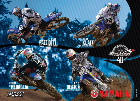 Team Yamaha Red Bull Blackfoot Fox Racing Poster