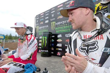 Teammates Colt and Dusty get ready for round two